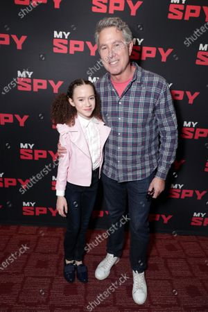 Stock Picture of Chloe Coleman and Director Peter Segal