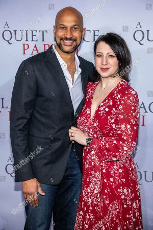 "Stock Picture of Keegan-Michael Key, Elisa Key. Keegan-Michael Key and Elisa Key attend the world premiere of Paramount Pictures' ""A Quiet Place Part II"" at Jazz at Lincoln Center's Frederick P. Rose Hall, in New York"