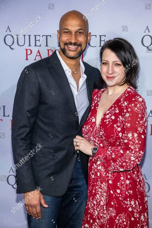 "Keegan-Michael Key, Elisa Key. Keegan-Michael Key and Elisa Key attend the world premiere of Paramount Pictures' ""A Quiet Place Part II"" at Jazz at Lincoln Center's Frederick P. Rose Hall, in New York"