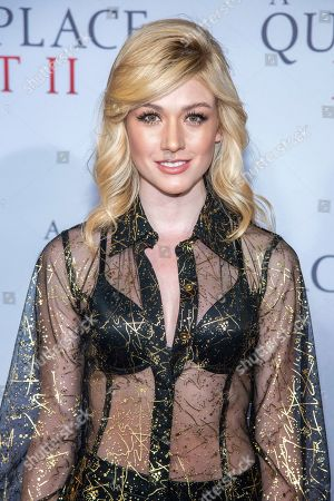 """Katherine McNamara attends the world premiere of Paramount Pictures' """"A Quiet Place Part II"""" at Jazz at Lincoln Center's Frederick P. Rose Hall, in New York"""