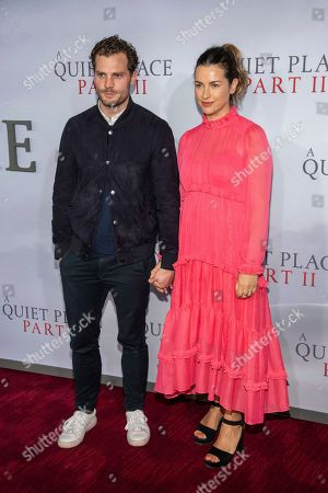 "Stock Image of Jamie Dornan, Amelia Warner. Jamie Dornan and Amelia Warner attend the world premiere of Paramount Pictures' ""A Quiet Place Part II"" at Jazz at Lincoln Center's Frederick P. Rose Hall, in New York"