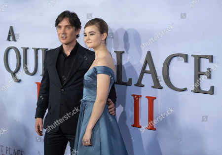 """Cillian Murphy, Millicent Simmonds. Cillian Murphy and Millicent Simmonds attend the world premiere of Paramount Pictures' """"A Quiet Place Part II"""" at Jazz at Lincoln Center's Frederick P. Rose Hall, in New York"""