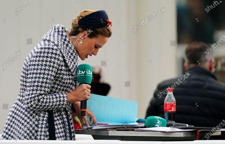 ITV Presenter Francesca Cumani reads her script