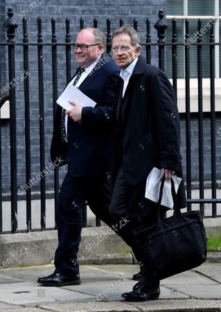 Sir Nicholas Serota arrives at No.10 Downing Street, where meetings are taking place concerning the Coronavirus outbreak.