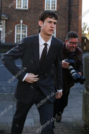 Noah Ponte arrives at Wood Green Crown Court.