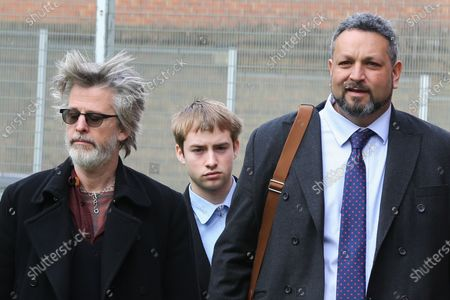 Sonny Starkey (C) leaves Wood Green Crown Court