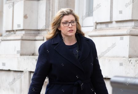 Penny Mordaunt, Paymaster General, arrives at the Cabinet Office