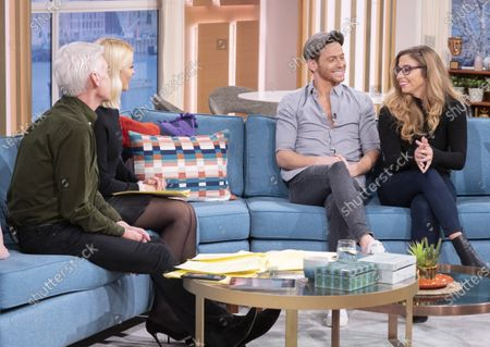 Phillip Schofield and Holly Willoughby with Joe Swash and Alex Murphy