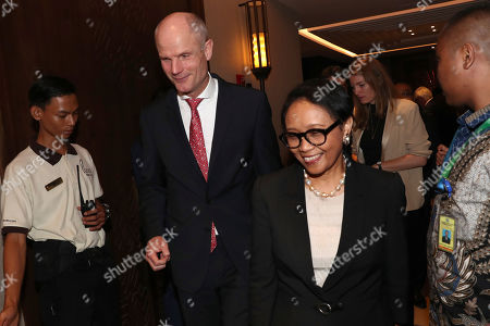 Stef Blok, Retno Marsudi. Netherlands' Foreign Minister Stef Blok, left, walks with his Indonesian counterpart Retno Marsudi during their meeting in Jakarta, Indonesia