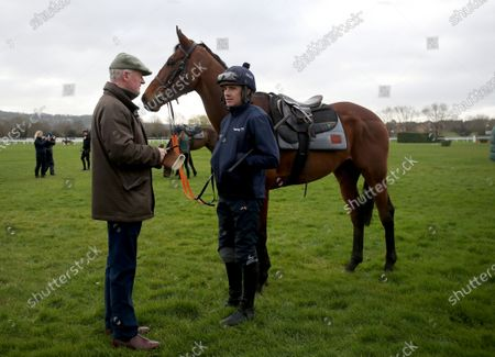 Trainer Willie Mullins with Ruby Walsh and Chacun Pour Soi