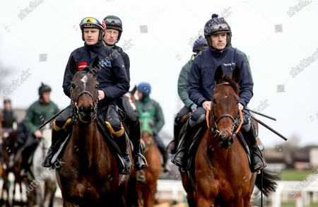 Jockey Paul Townend with Benie Des Dieux and Ruby Walsh with Chacun Pour Soi