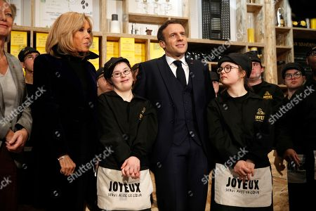 President Macron Attends Opening Cafe Joyeux Paris Stock Photos Exclusive Shutterstock