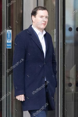Former Chancellor of the Exchequer George Osborne departs BBC Broadcasting House after appearing on the Today Programme