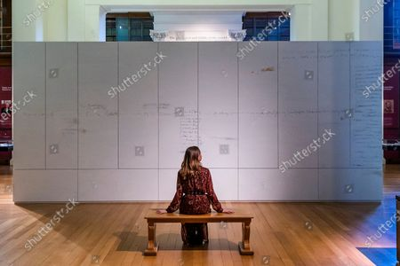 Artist Edmund de Waal unveils his library of exile in the Collecting the World Gallery at The British Museum