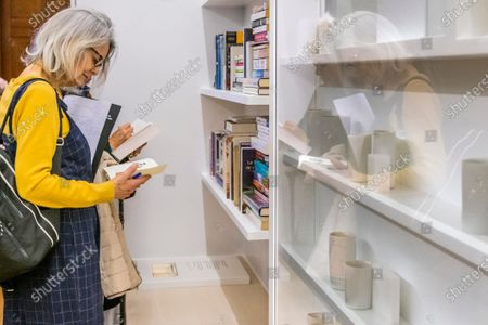 Stock Photo of Artist Edmund de Waal unveils his library of exile in the Collecting the World Gallery at The British Museum