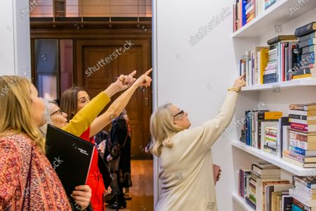 Editorial picture of Edmund de Waal 'library of exile', British Museum, London, UK - 09 Mar 2020