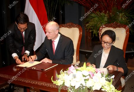 Editorial photo of Indonesian Foreign Minister Retno Marsudi meet Dutch counterpart Stef Blok, Jakarta, Indonesia - 09 Mar 2020