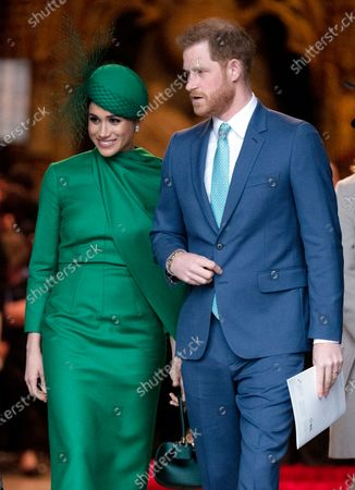 Stock Picture of Meghan Duchess of Sussex and Prince Harry