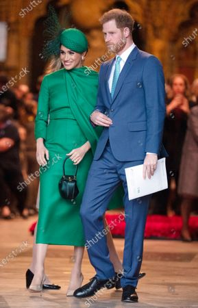 Stock Photo of Meghan Duchess of Sussex and Prince Harry