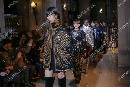 Editorial image of Andrew Gn show, Runway, Fall Winter 2020, Paris Fashion Week, France - 28 Feb 2020