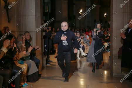 Stock Photo of Andrew Gn on the catwalk