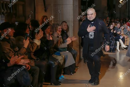 Andrew Gn on the catwalk