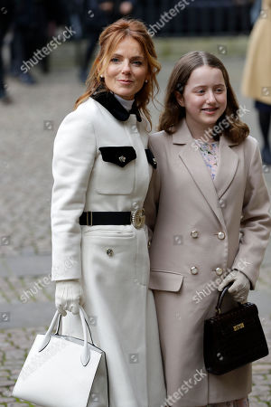 Singer Geri Horner, former member of girl group the Spice Girls, arrives with her daughter Bluebell Halliwell to attend the annual Commonwealth Day service at Westminster Abbey in London,. The annual service, organised by the Royal Commonwealth Society, is the largest annual inter-faith gathering in the United Kingdom