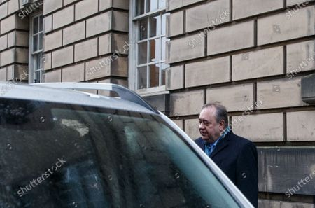 Former Scottish first minister Alex Salmond leaves the High Court after the first day of his attempted rape and sex abuse trial in Edinburgh, Scotland, Britain, 09 March 2020. The former SNP leader is accused on total of 14 sexual assaults on 10 women.