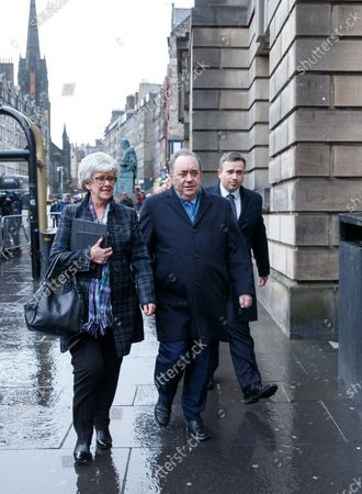 Former Scottish first minister Alex Salmond (R) leaves the High Court after the first day of his attempted rape and sex abuse trial in Edinburgh, Scotland, Britain, 09 March 2020. The former SNP leader is accused on total of 14 sexual assaults on 10 women.