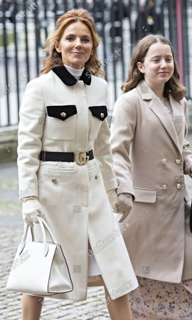 Geri Horner arrives at Westminster Abbey for the Commonwealth Service