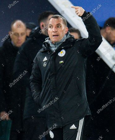 Leicester City manager Brendan Rogers reacts during the English Premier League soccer match between Leicester and Aston Villa at the King Power Stadium, Leicester, Britain, 09 March 2020.