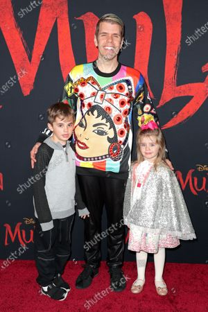 Stock Image of Perez Hilton and family