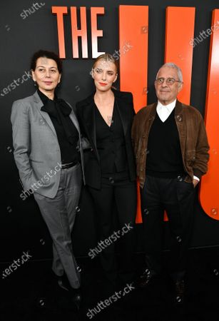 Donna Langley, Betty Gilpin and Ron Meyer