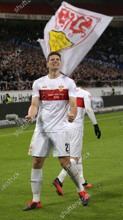 09.03.2020, Football 2. Bundesliga 2019/2020, 25.  match day, VfB Stuttgart - Arminia Bielefeld, in Mercedes-Benz Arena in Stuttgart,  Mario Gomez (Stuttgart).