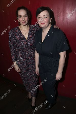 Katherine Parkinson (Viv) and EV Crowe (Author)