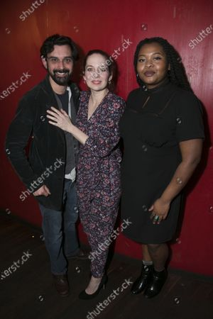 Tom Kanji (Kenny/Curtains), Katherine Parkinson (Viv) and Kayla Meikle (Elaine)