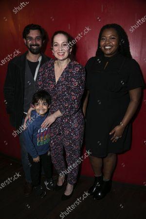 Tom Kanji (Kenny/Curtains), Archer Brandon (Child/Tree), Katherine Parkinson (Viv) and Kayla Meikle (Elaine)