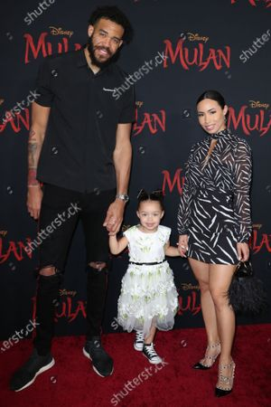 Stock Photo of JaVale McGee, Giselle Mybelle and daughter