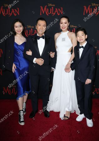 Donnie Yen and family