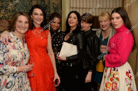Freya Simms, Jo Baring, Katy Wickremesinghe, Brandei Estes, Megan Piper, Nancy Cadogan and Lily Lewis