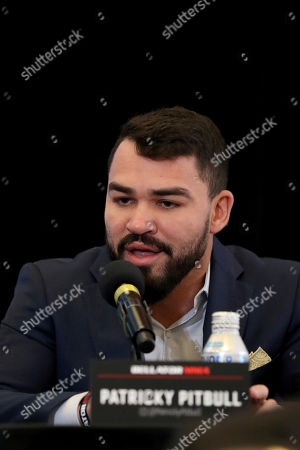 Patricky 'Pitbull' Freire speaks at a news conference promoting the Bellator Spring & Summer fight cards, in New York City