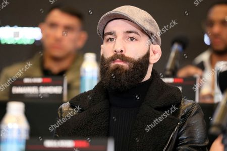 Pedro Carvalho is seen at a news conference promoting the Bellator Spring & Summer fight cards, in New York City