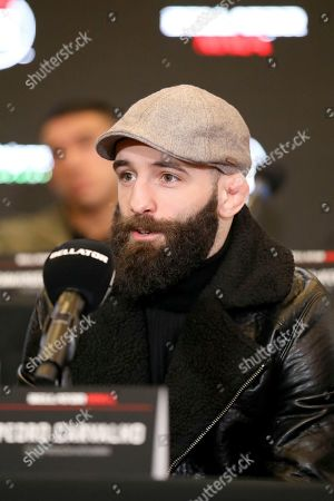 Stock Picture of Pedro Carvalho speaks at a news conference promoting the Bellator Spring & Summer fight cards, in New York City