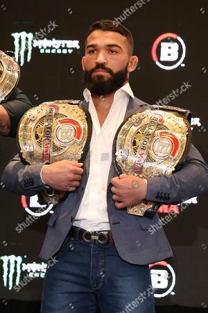 Patricio 'Pitbull' Freire is seen at a news conference promoting the Bellator Spring & Summer fight cards, in New York City