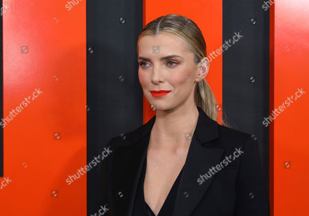 """Betty Gilpin arrives at the LA Special Screening of """"The Hunt,"""" at the ArcLight Hollywood, in Los Angeles"""