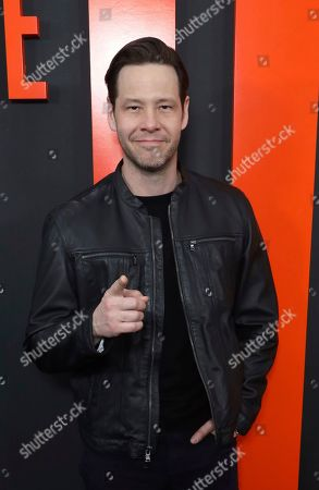 """Ike Barinholtz. Ashley Joncas arrives at the LA Special Screening of """"The Hunt"""" at the ArcLight Hollywood on in Los Angeles"""
