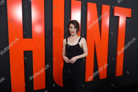 """Stock Picture of Teri Wyble arrives at the LA Special Screening of """"The Hunt"""" at the ArcLight Hollywood on in Los Angeles"""