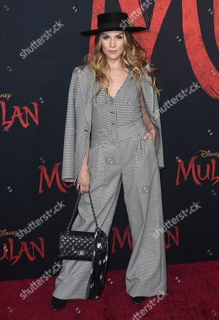 """Allison Holker arrives at the Los Angeles premiere of """"Mulan"""" at the Dolby Theatre on"""