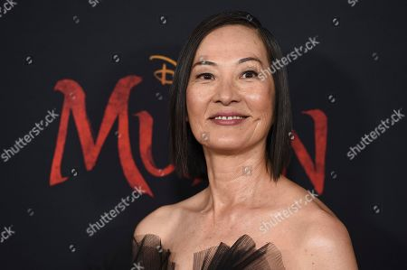 """Rosalind Chao arrives at the Los Angeles premiere of """"Mulan"""" at the Dolby Theatre on"""