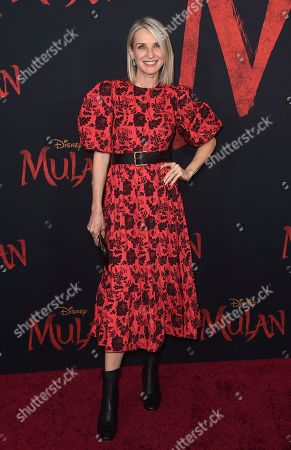 "Ever Carradine arrives at the Los Angeles premiere of ""Mulan"" at the Dolby Theatre on"
